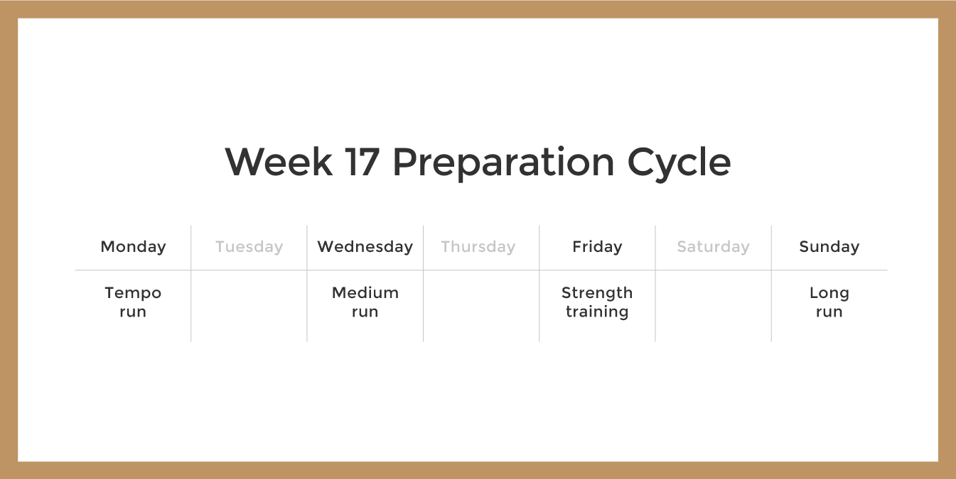 Marathon Preparation Cycle