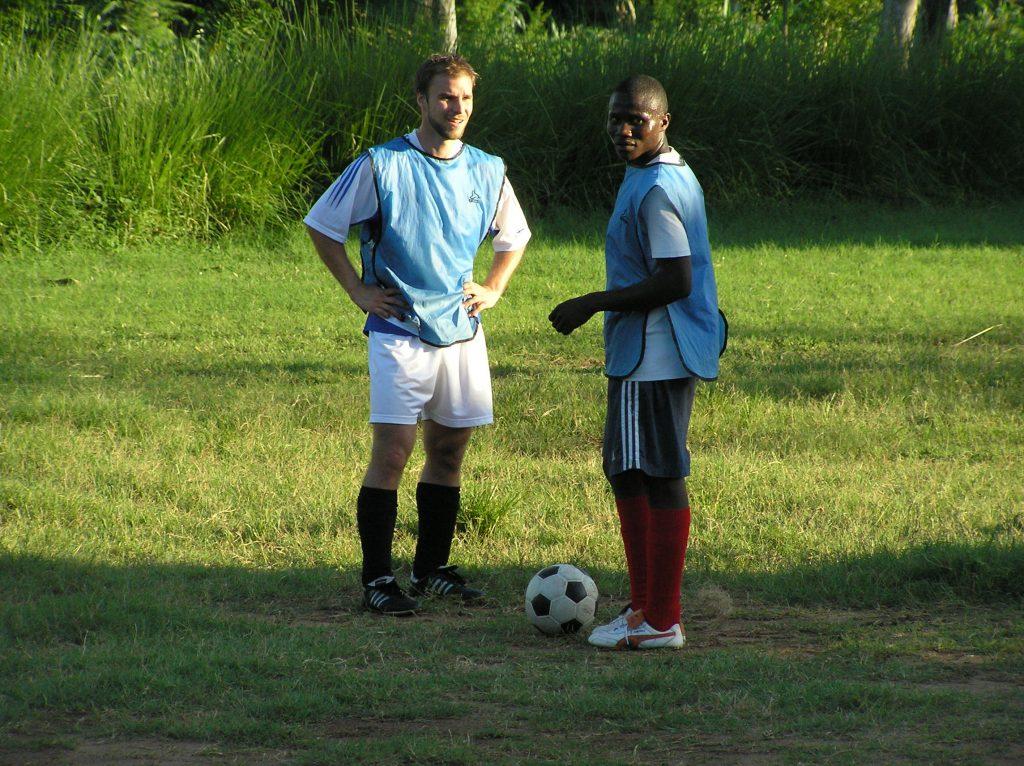 Matti Kontsas working in Tanzania